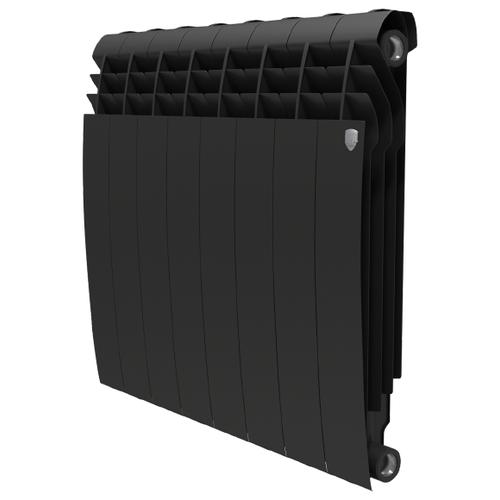 Радиатор секционный биметаллический Royal Thermo BiLiner 500 x8 подключение универсальное боковое Noir Sable радиатор отопления royal thermo биметаллический biliner 500 new noir sable 8 секций