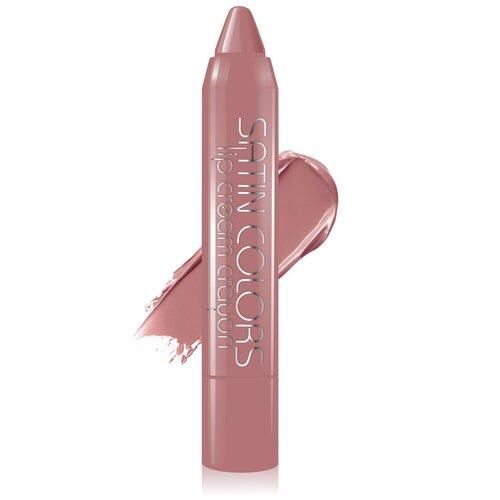 Купить BelorDesign помада-карандаш для губ Satin Colors полуматовая, оттенок 10 натуральный бежевый
