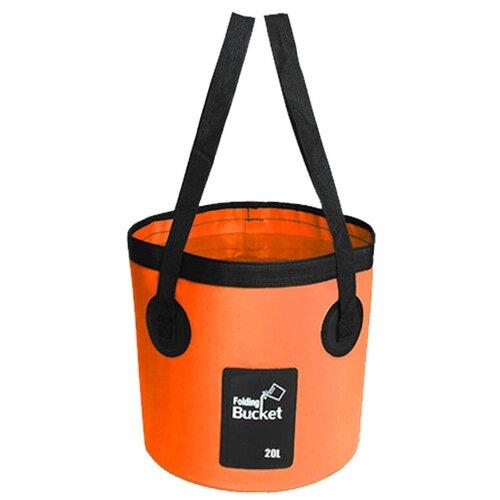 Водонепроницаемая складная сумка-ведро Nuobi Folding Bucket (для дачи, похода, туризма) (Оранжевый (20л))