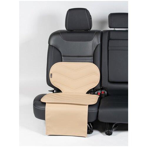 Чехлы (накидки) под бустеры. Защита сидений авто. Цвет: бежевый. 1 шт. Фаворит