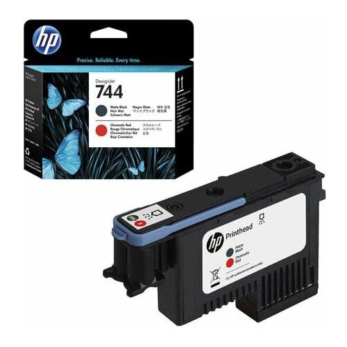 Головка печатающая для плоттера HP (F9J88A) Designjet Z2600/Z5600 №744 черный матовый/красный оригинальный 1 шт.
