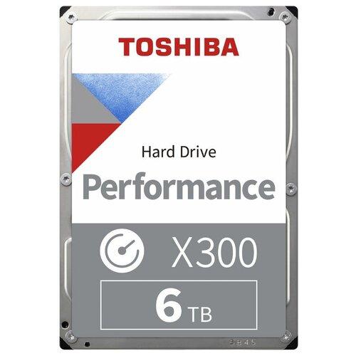 "Жесткий диск TOSHIBA X300 HDWR160UZSVA 6ТБ HDD SATA III 3.5"""