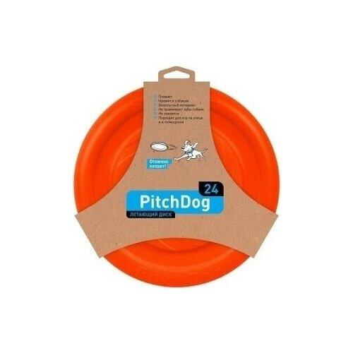 PitchDog летающий диск d 24 см, оранжевый .