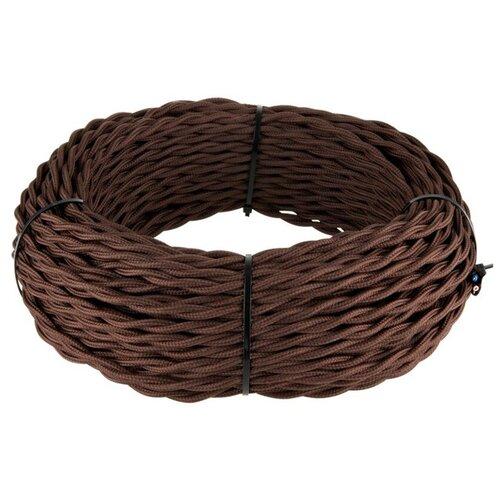 Ретро кабель витой 3х2,5 (коричневый) 2 м WERKEL W6453314 Ретро Кабель Коричневый