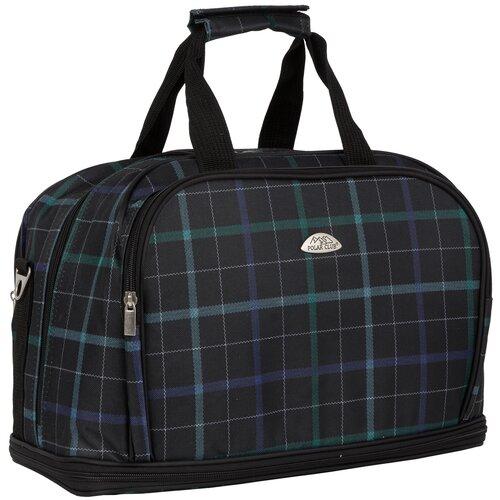 Дорожная сумка П7092 клетка зеленая