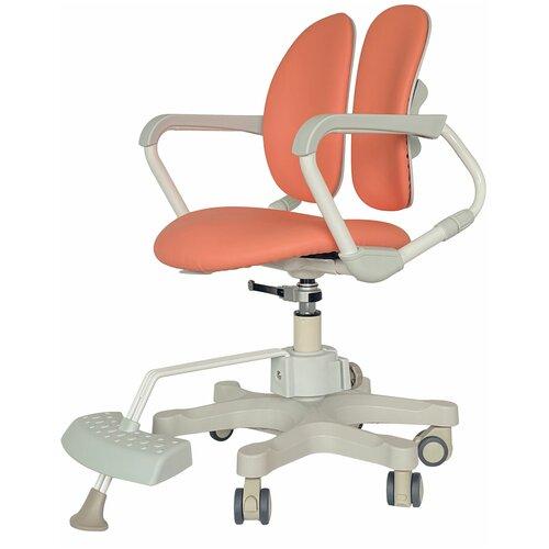 компьютерное кресло duorest kids max детское обивка искусственная кожа цвет светло зеленый Компьютерное кресло DUOREST Kids DR-280DDS детское, обивка: искусственная кожа, цвет: MILKY CORAL