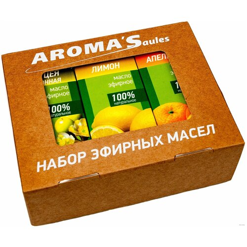 AROMA'Saules набор эфирных масел Цитрусовый, 30 млх 3 шт.