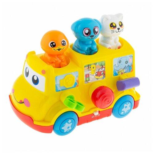 Развивающая игрушка Полесье Школьный автобус в коробке Полесье
