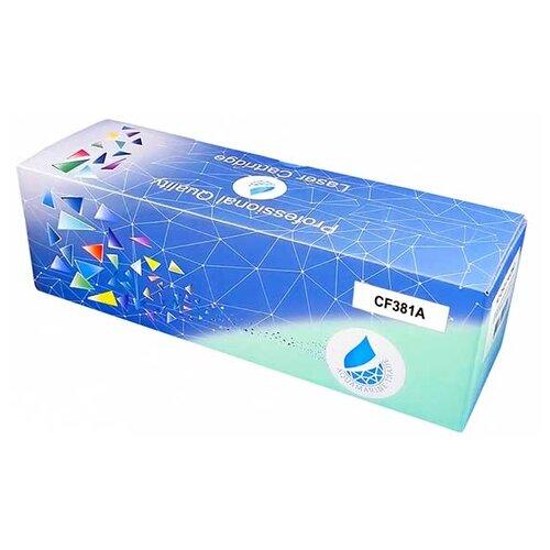 Фото - Картридж Aquamarine CF381A (совместимый с HP CF381A / HP 312A), цвет - голубой, на 4000 стр. печати картридж aquamarine cb541a совместимый с hp cb541a hp 125a цвет голубой на 1800 стр печати