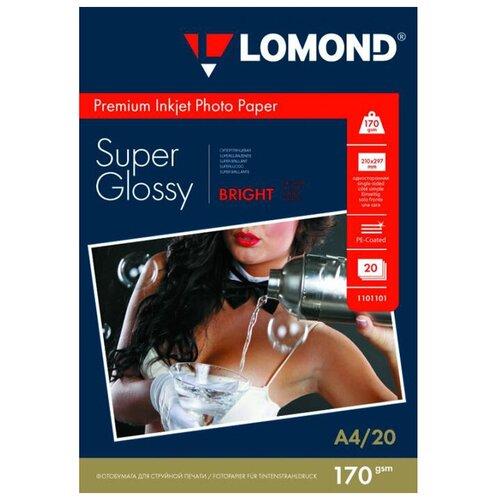 Фото - Бумага Lomond A4 Premium Photo Paper 1101101 170 г/м² 20 лист., ярко-белый бумага lomond a4 photo paper 0102003 120 г м² 100 лист белый