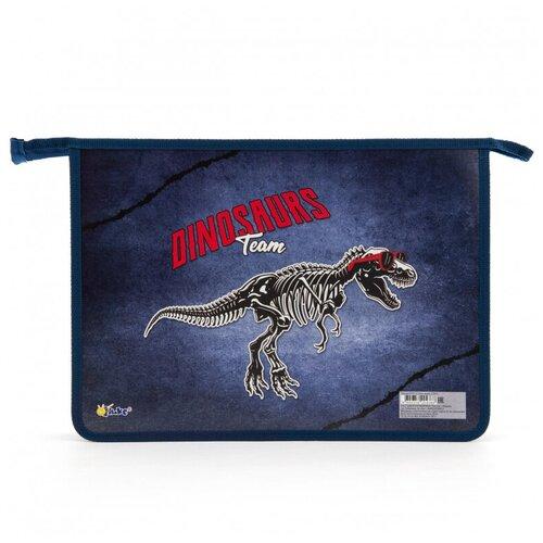 Купить Папка для тетрадей Dino team - папка 2-отд. А4 на молнии ПТ-Р115, 57917, Оникс, Файлы и папки