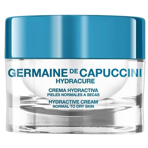 Germaine de Capuccini HYDRACURE Hydractive Cream Normal To Dry Skin Крем для нормальной и сухой кожи для лица, шеи и области декольте, 50 мл недорого