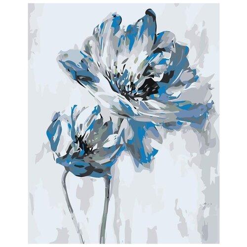 Купить Картина по номерам «Голубые цветы», 40x50 см, Живопись по Номерам, Живопись по номерам, Картины по номерам и контурам
