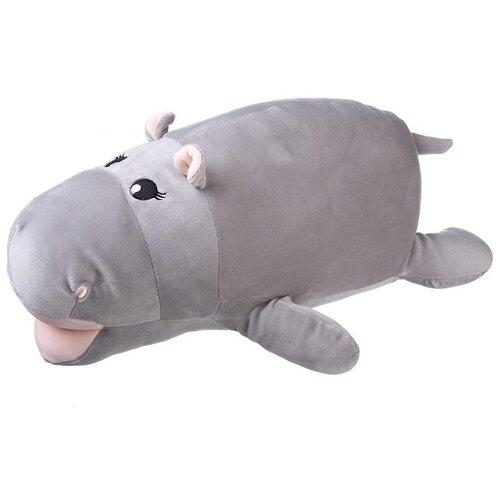 Купить Игрушка-подушка ABtoys Super soft Бегемот серый 45 см, Мягкие игрушки