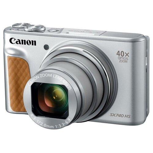Фото - Фотоаппарат Canon PowerShot SX740 HS серебристый фотоаппарат canon powershot sx740 hs серебристый коричневый