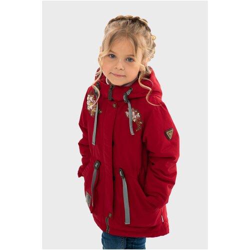 Фото - Парка для девочки Talvi 88210, размер 122/60, цвет красный кофта для девочки leadgen цвет серый g427011812 171 размер 122