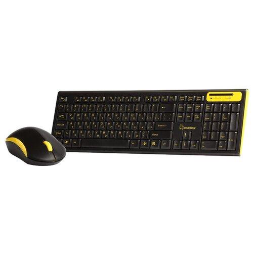 Фото - Клавиатура и мышь SmartBuy SBC-23350AG-KY Black-Yellow USB мышь smartbuy sbm 329 ky black yellow usb