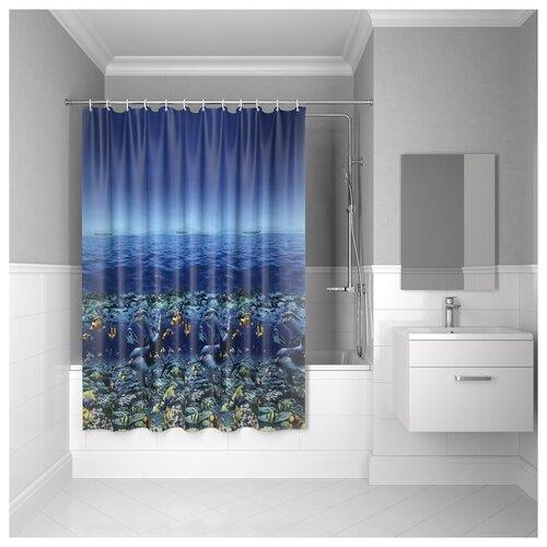 Штора для ванной комнаты, 180*180см, PEVA, P25PV11i11, IDDIS штора для ванной комнаты 180 180см peva p27pv11i11 iddis