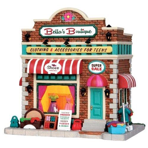 фигурка lemax платформа с рождественскими игрушками 10 4 x 18 x 10 см красный зеленый Фигурка LEMAX Бутик Беллы 18 x 18 x 13 см коричневый/красный