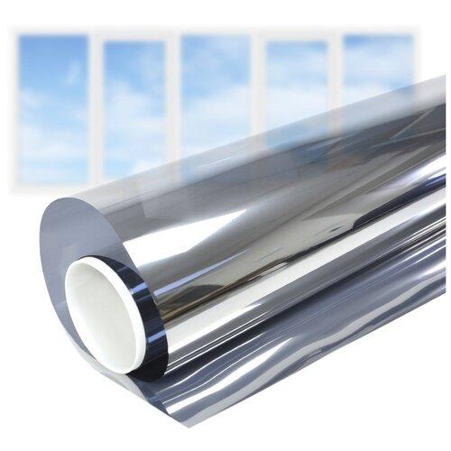 Пленка самоклеящаяся на окно солнцезащитная зеркальная Silver 5 - Комплект на 5-створчатое окно
