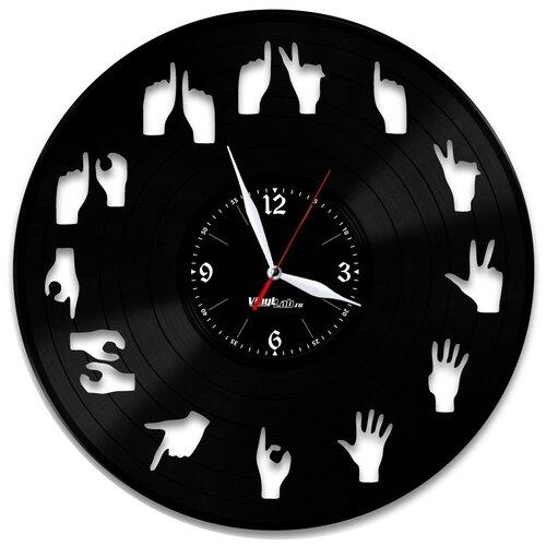 Часы из виниловой пластинки (c) VinylLab Жесты