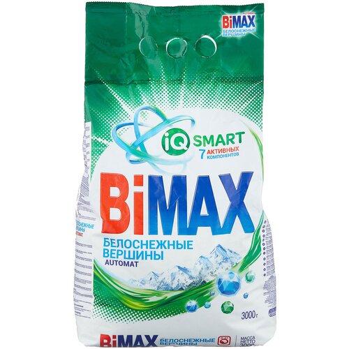 Стиральный порошок Bimax Белоснежные вершины Compact (автомат), пластиковый пакет, 3 кг недорого