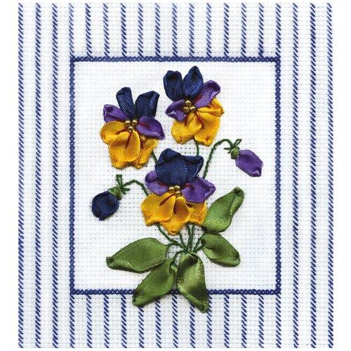 Купить PANNA Набор для вышивания лентами Дыхание весны 13.5 x 14 см (C-0435), Наборы для вышивания