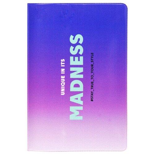 Обложка для паспорта MESHU Madness, синий/фиолетовый
