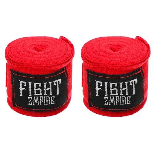 Бинт боксерский, эластичный FIGHT EMPIRE 3 м, цвет красный 4763319
