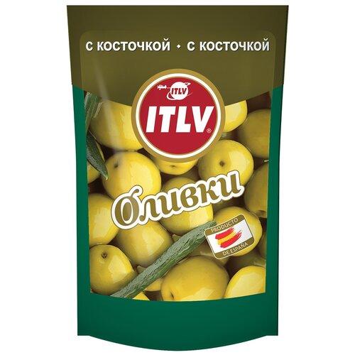 ITLV Оливки зеленые с косточкой в рассоле, 195 г itlv маслины super с косточкой