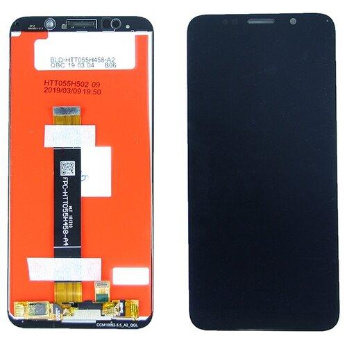 Дисплей для Huawei Y5 2018 в сборе с тачскрином Черный - Premium