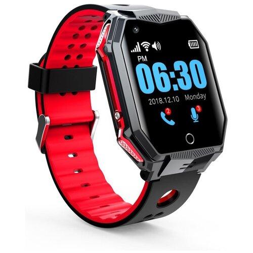 Часы-телефон GPS с видеозвонком Smart Baby Watch FA68 (красный) / аудиомониторинг / удаленная камера / поддержка 4G / виброзвонок / будильник / кнопка SOS / прямой набор с блокировкой / обмен сообщениями / видеочат / влагозащита IP67 / сенсорный экран