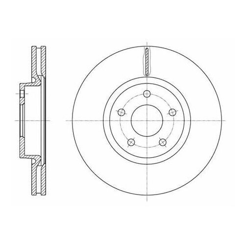 Тормозной диск Roadhouse 61562.10 для Ford Mondeo IV