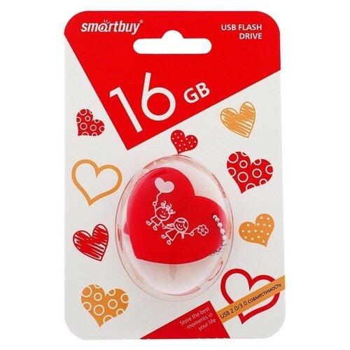 Фото - Флешка SmartBuy Wild Series Heart 16 GB, красный флешка smartbuy ny series snow 16 gb красный белый