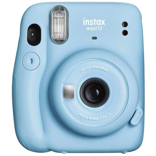 Фото - Фотоаппарат моментальной печати Fujifilm Instax Mini 11, sky blue фотоаппарат моментальной печати fujifilm instax mini liplay elegant stone white bundle