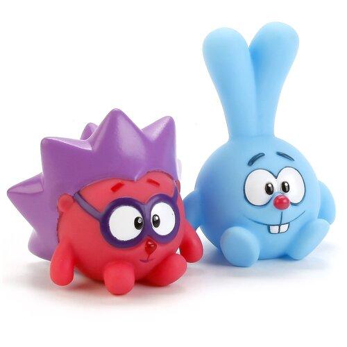Купить Набор для ванной Играем вместе Смешарики. Крош и Ёжик (LXS36-39) голубой/розовый/фиолетовый, Игрушки для ванной