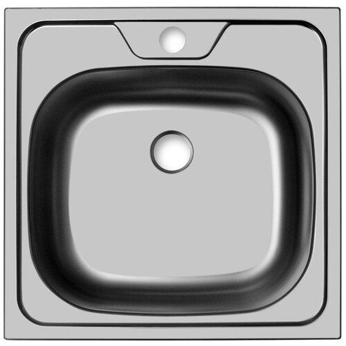 Врезная кухонная мойка 48 см, UKINOX Classic CLM 480.480-4C 0C, матовая нержавеющая сталь