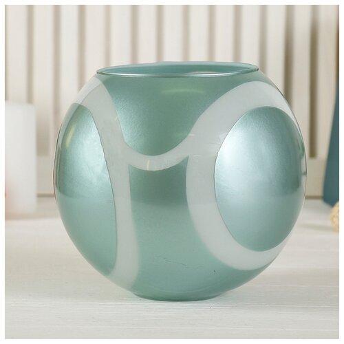 Фото - Ваза Шаровая джаматти 4литра(d-13см, 17,5х19 см ) 4060701 ваза шаровая d 14см 22х19см 5л 1001570