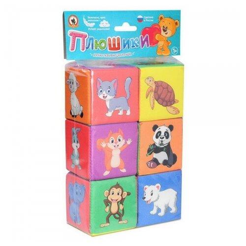 Купить Кубики Русский Стиль Плюшики мягкие для малышей Весёлая азбука 7х7 см, Русский стиль, Детские кубики