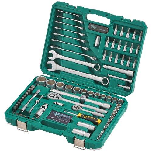 Набор инструментов Арсенал C1412K82, 82 предм., зеленый