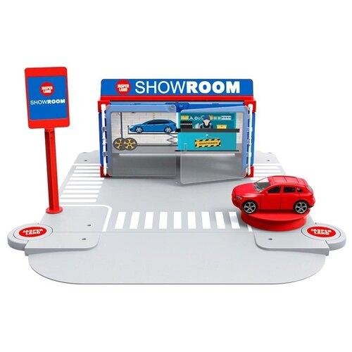 Jasperland Автомобильный магазин 5279-1, голубой/красный/серый