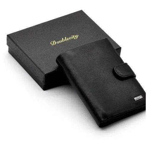 Фото - Мужское кожаное портмоне для документов и денег с RFID защитой Doublecity 097-DC23-08A (104496) портмоне мужское кожаное для документов и денег вп а дымчато коричневая apache