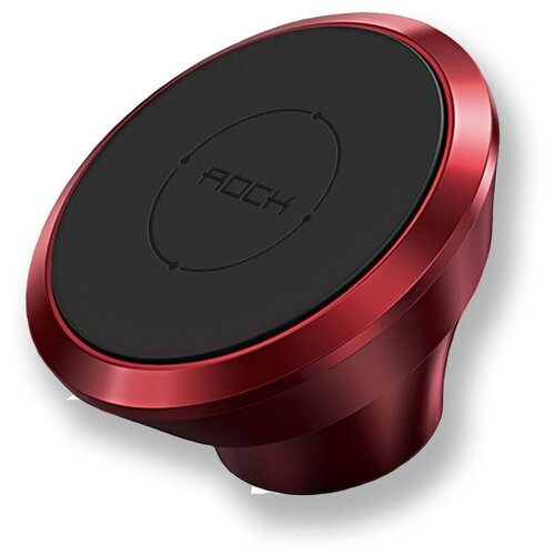 Автодержатель магнитный для телефонов на торпеду Rock Magnetic Dashboard Car Mount, красный автодержатель