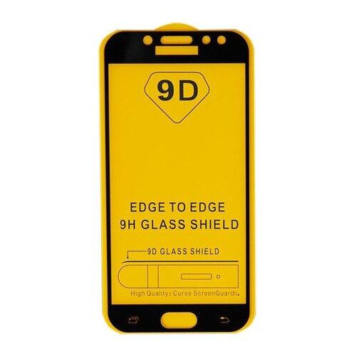 Защитное стекло LuazON 9D для Samsung Galaxy J5 2017 прозрачный/черный