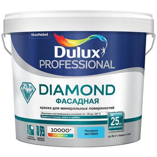 Фото - Краска акриловая Dulux Diamond Фасадная Гладкая влагостойкая моющаяся матовая белый 5 л краска акриловая dali для кухни и ванной влагостойкая моющаяся матовая белый 5 л