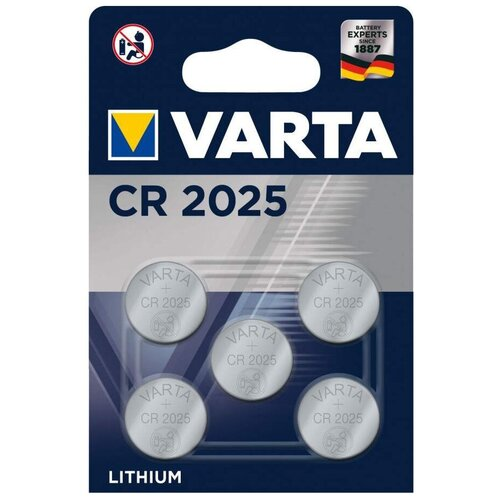 Фото - Батарейка VARTA CR2025, 5 шт. батарейка rexant a27 5 шт