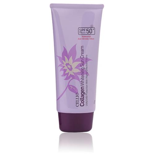 Фото - Солнцезащитный крем с коллагеном Cellio Collagen Whitening Sun Cream SPF50+ PA+++, 70гр ekel солнцезащитный крем с коллагеном soothing and moisture collagen sun block spf50 70 мл