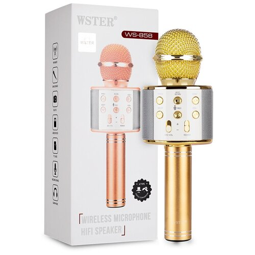 Караоке микрофон WSTER WS-858 золотой