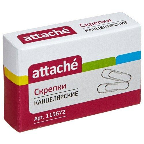 Купить Скрепки Attache, 28, цинковое, овальная, 100 шт, в картонной коробке (серебристый), Скрепки, кнопки