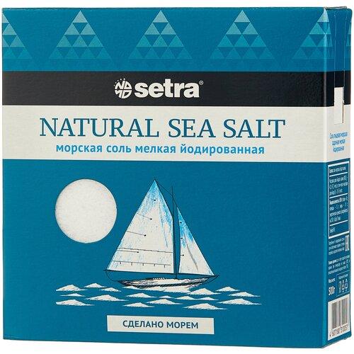 setra соль морская мелкая йодированная с пониженным содержанием натрия 500 г Setra Соль морская йодированная мелкая, 500 г